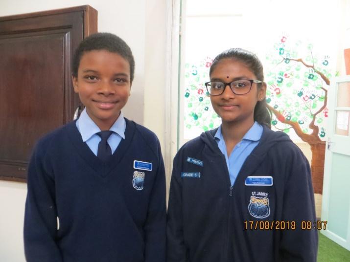 Art Competition winners Zano and Talia