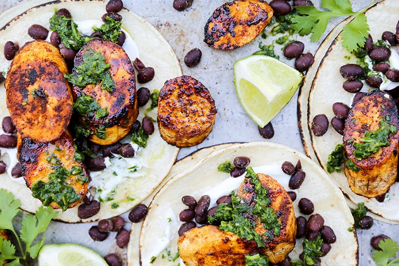 Plantain-Black-Bean-Tacos