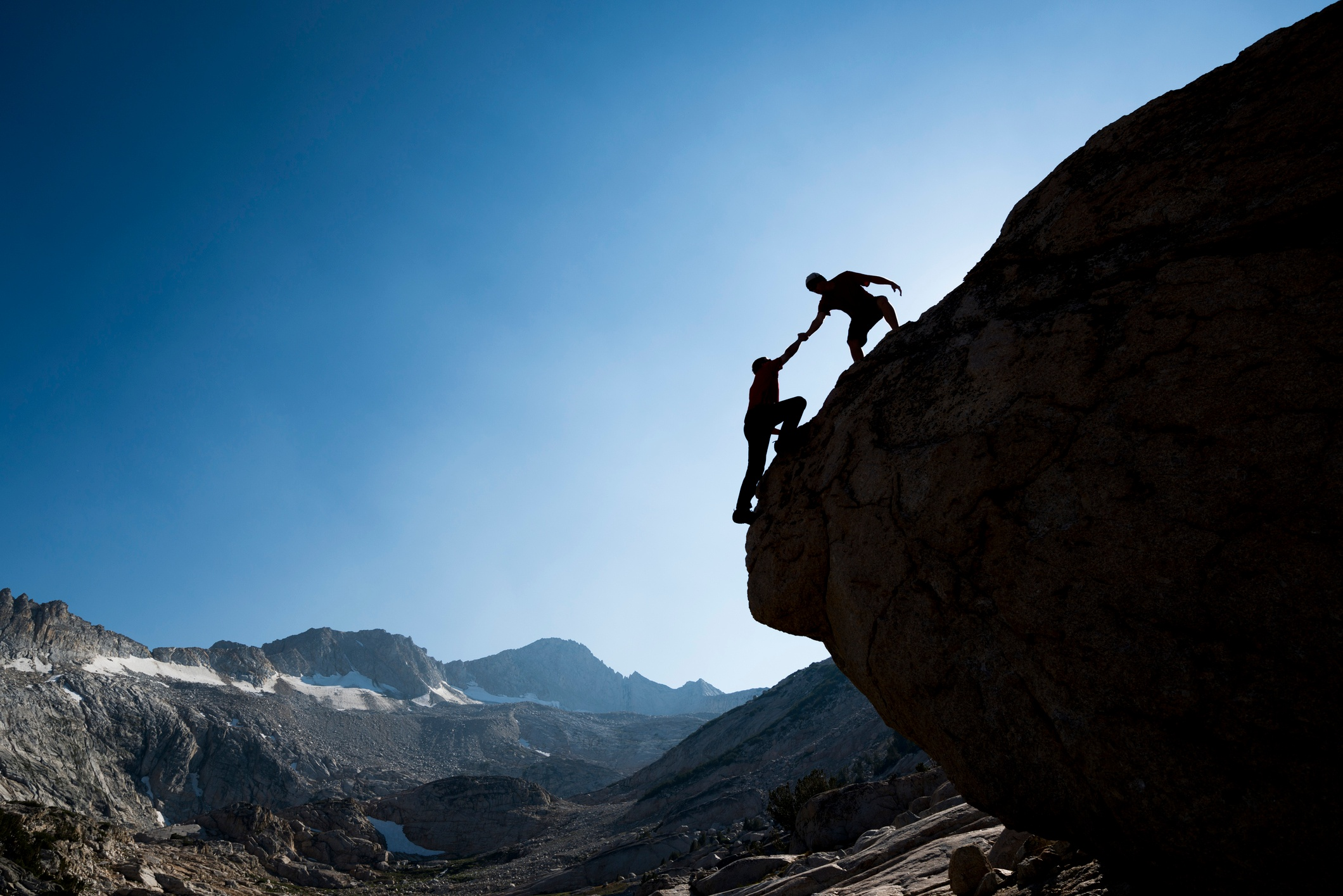 Helping Hand on a Mountain