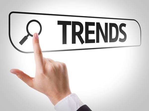 Trends written in search bar